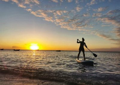 Paddle boarding Rodrigues / with belles on