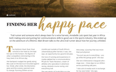 Finding her happy pace