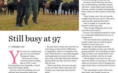 Still busy at 97, New Zealand