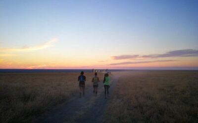 Running on a moonscape. Botswana