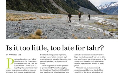 Is it too little, too late for tahr? New Zealand