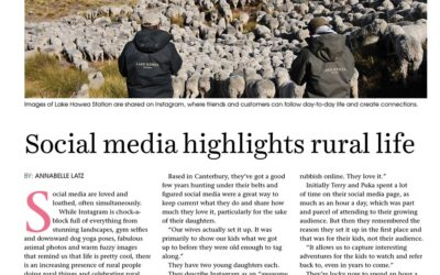 Social Media Highlights Rural Life, New Zealand.